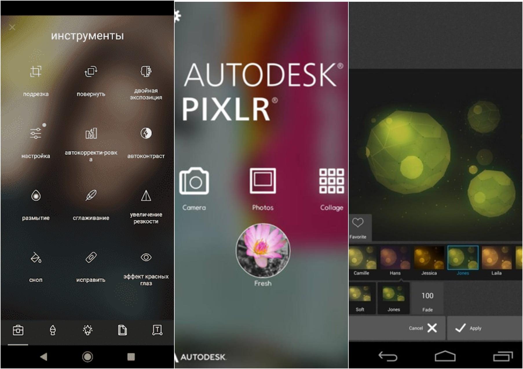 На фото приложение Autodesk Pixlr