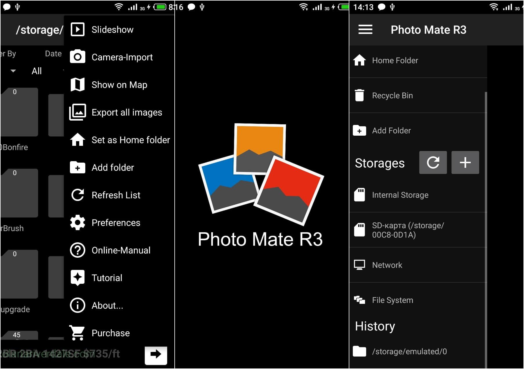 На фото приложение Photo Mate R3
