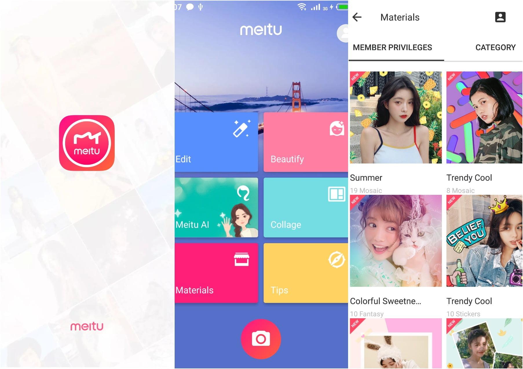 На фото приложение Meitu