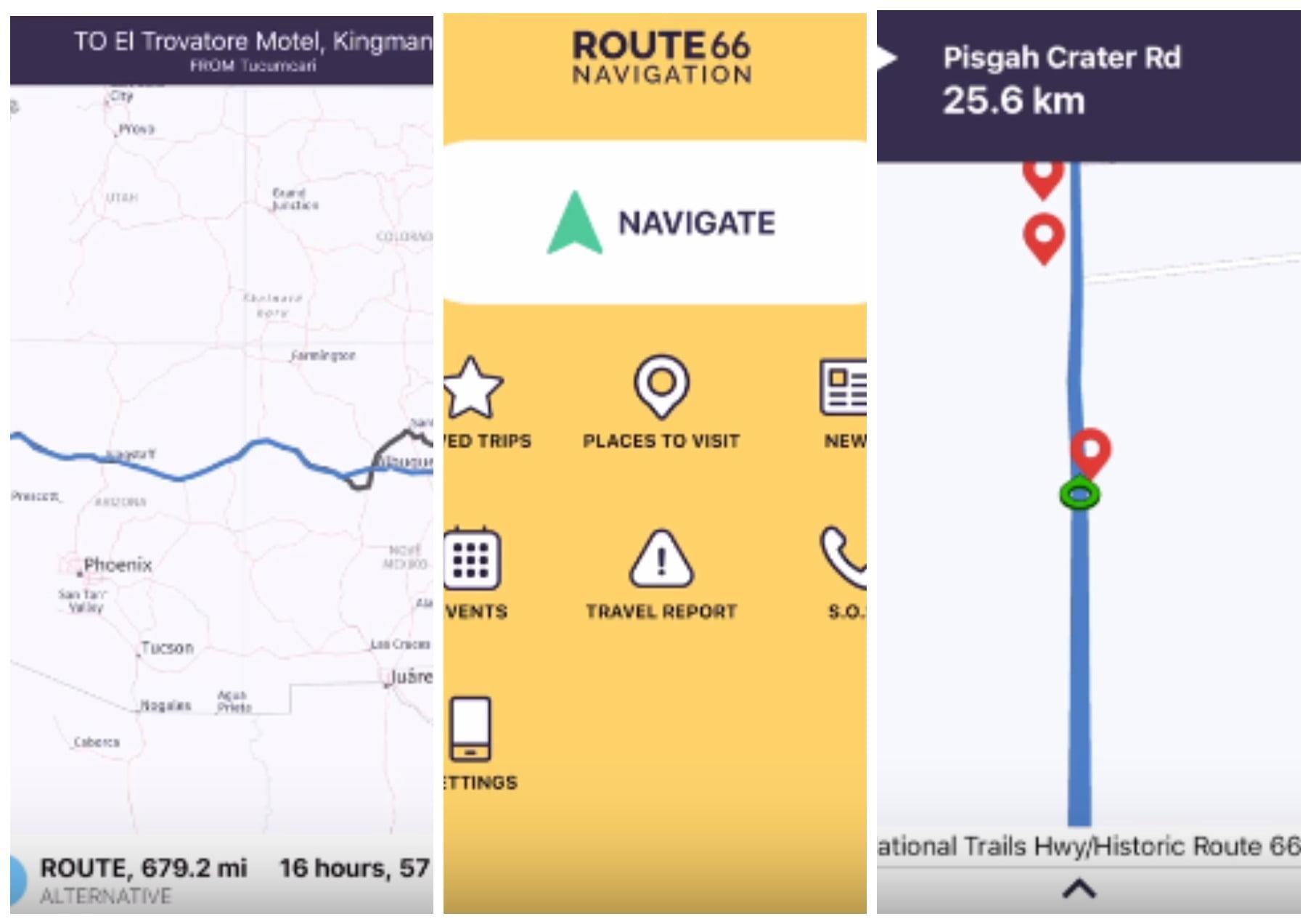 .на фото приложение route 66