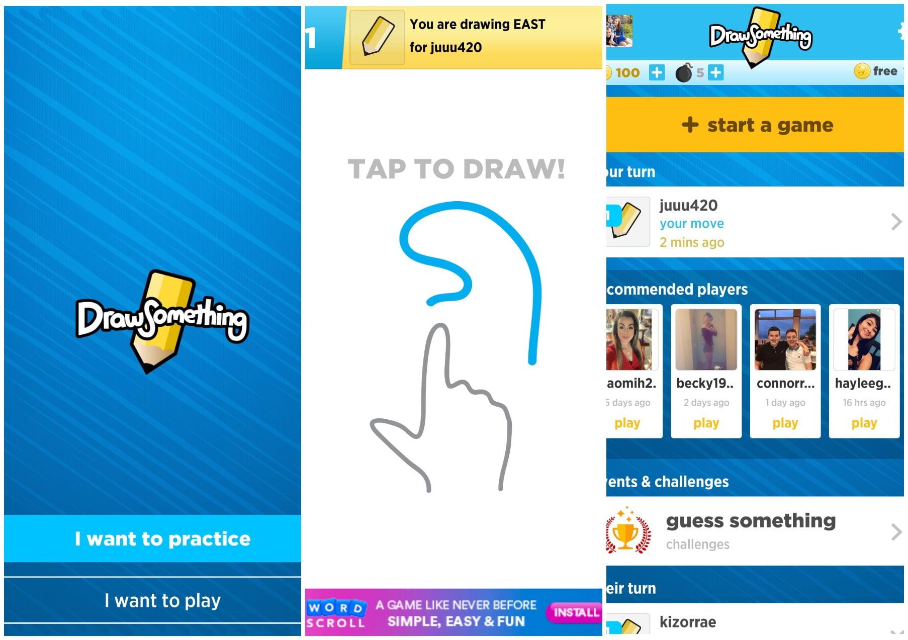 На фото приложение Draw something