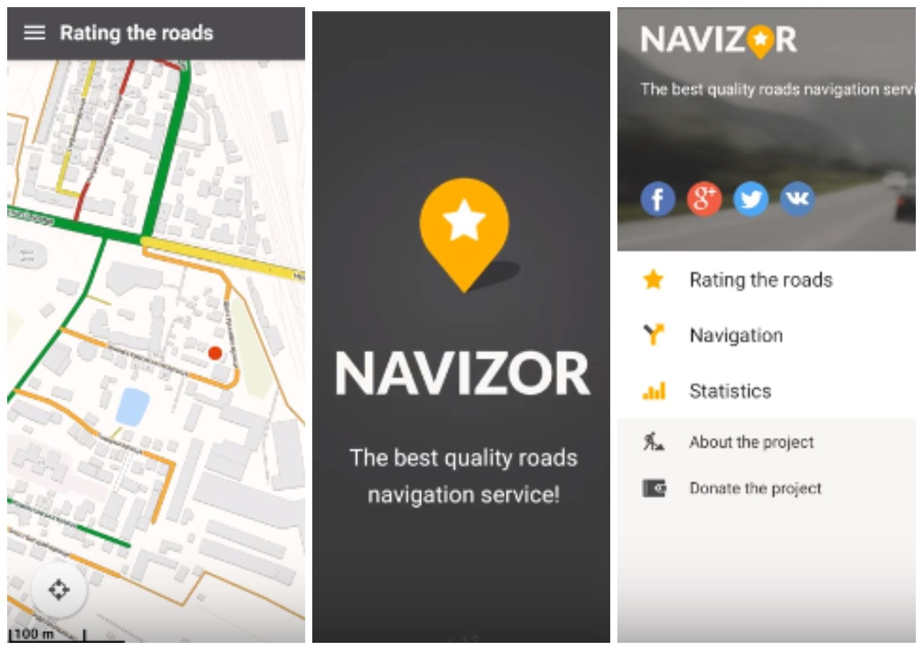 На фото изображен навигатор Navizor