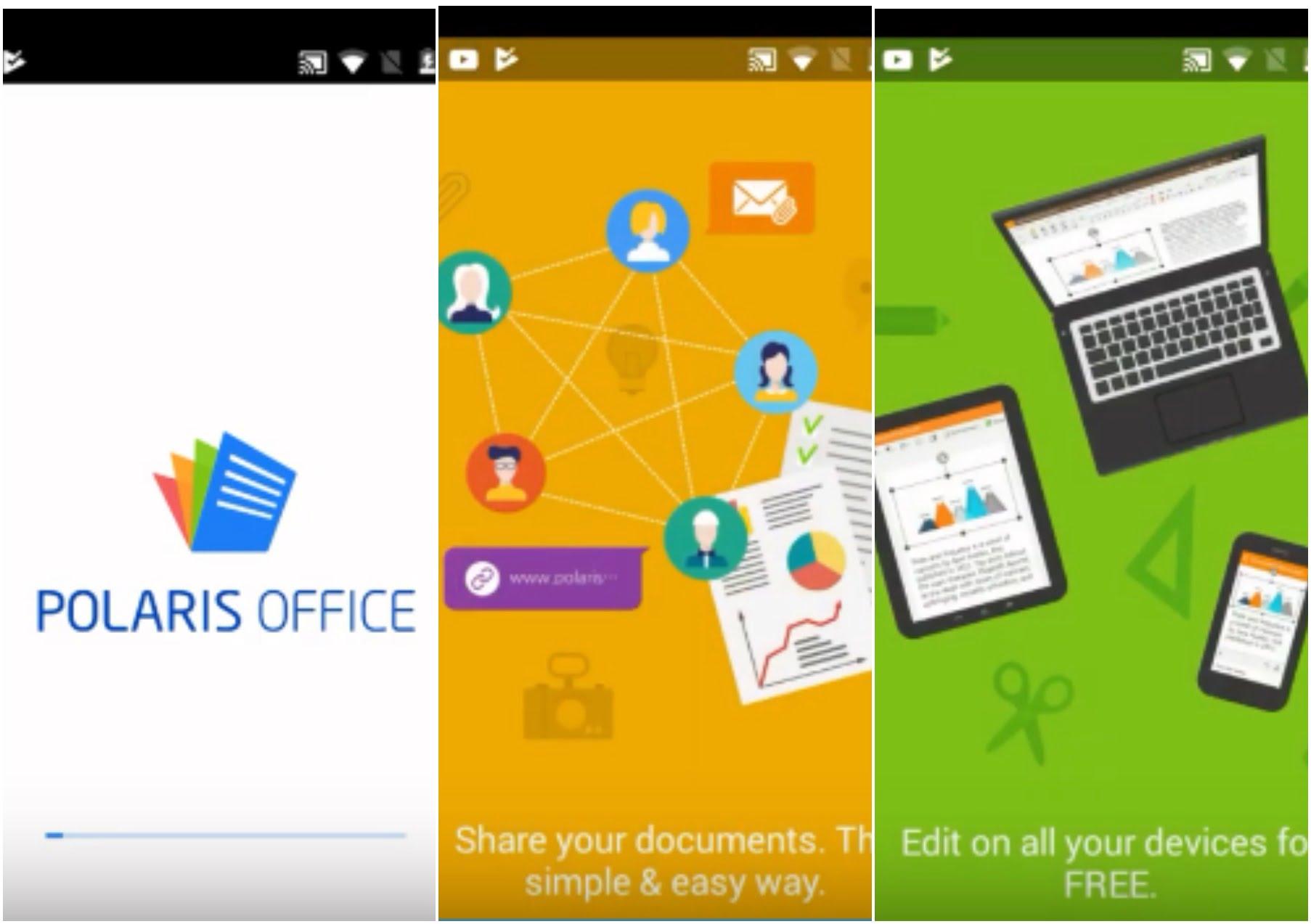 На фото изображено приложение Polaris office pdf editor