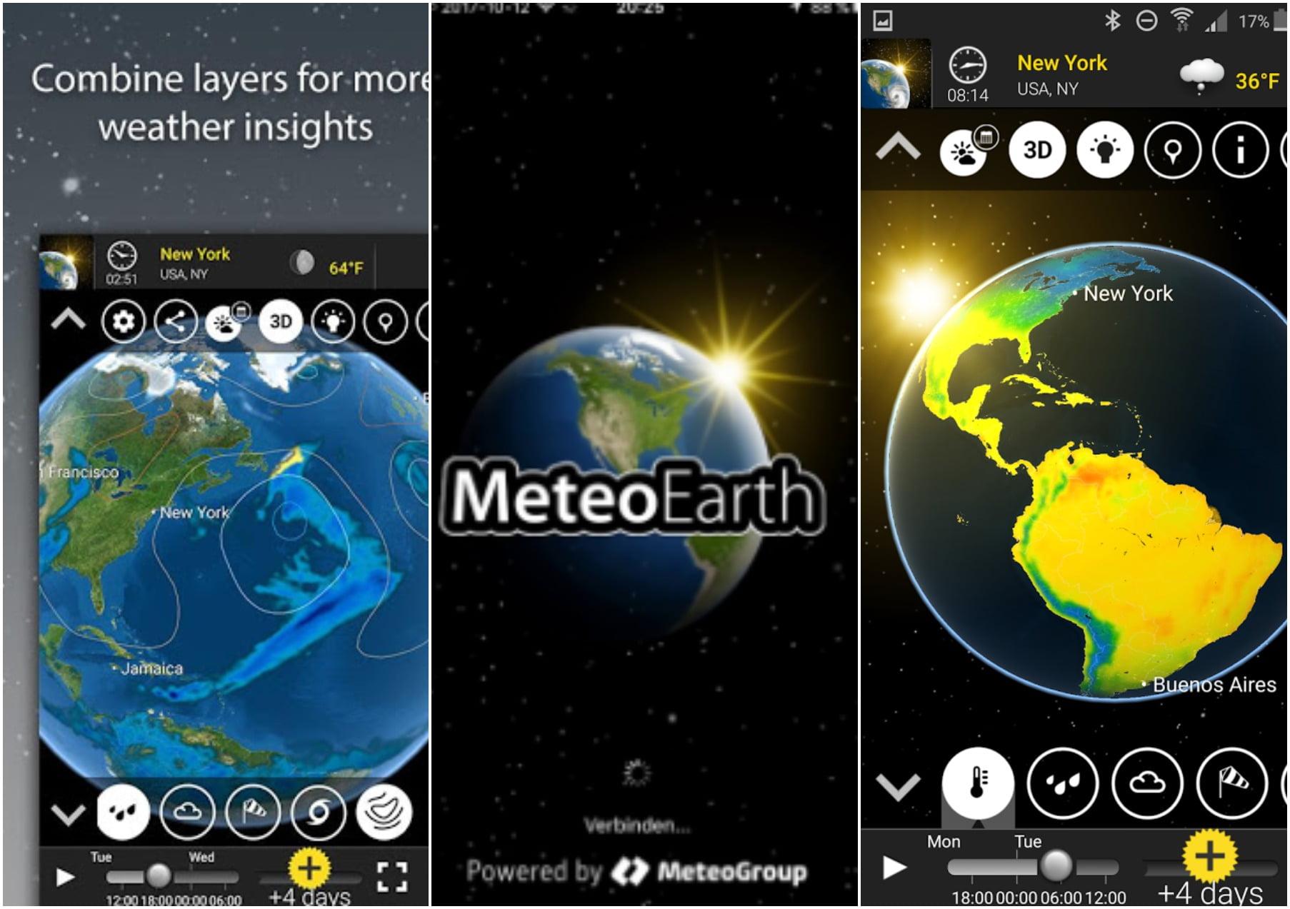 На фото изображено приложение MeteoEarth