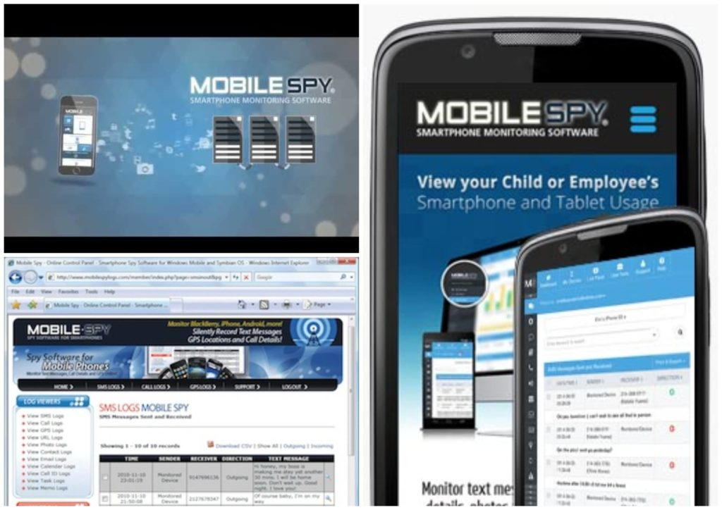 На фото изображено приложение Mobile Spy.