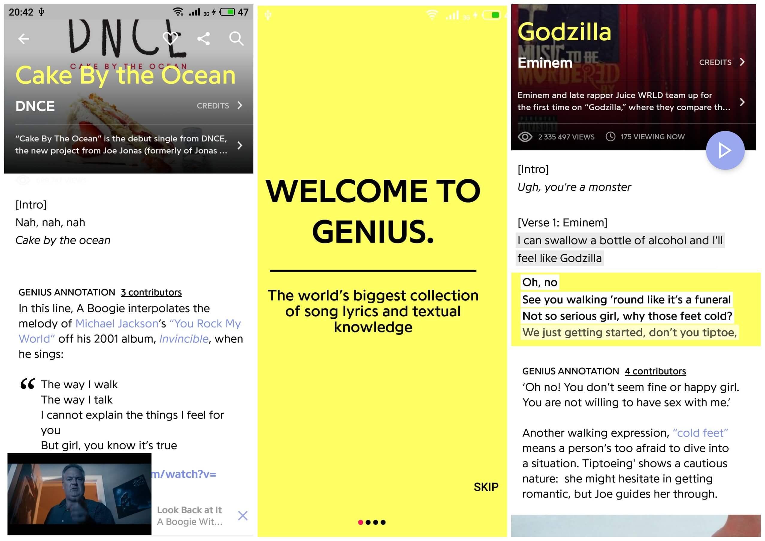 На фото приложение для английского Genius.
