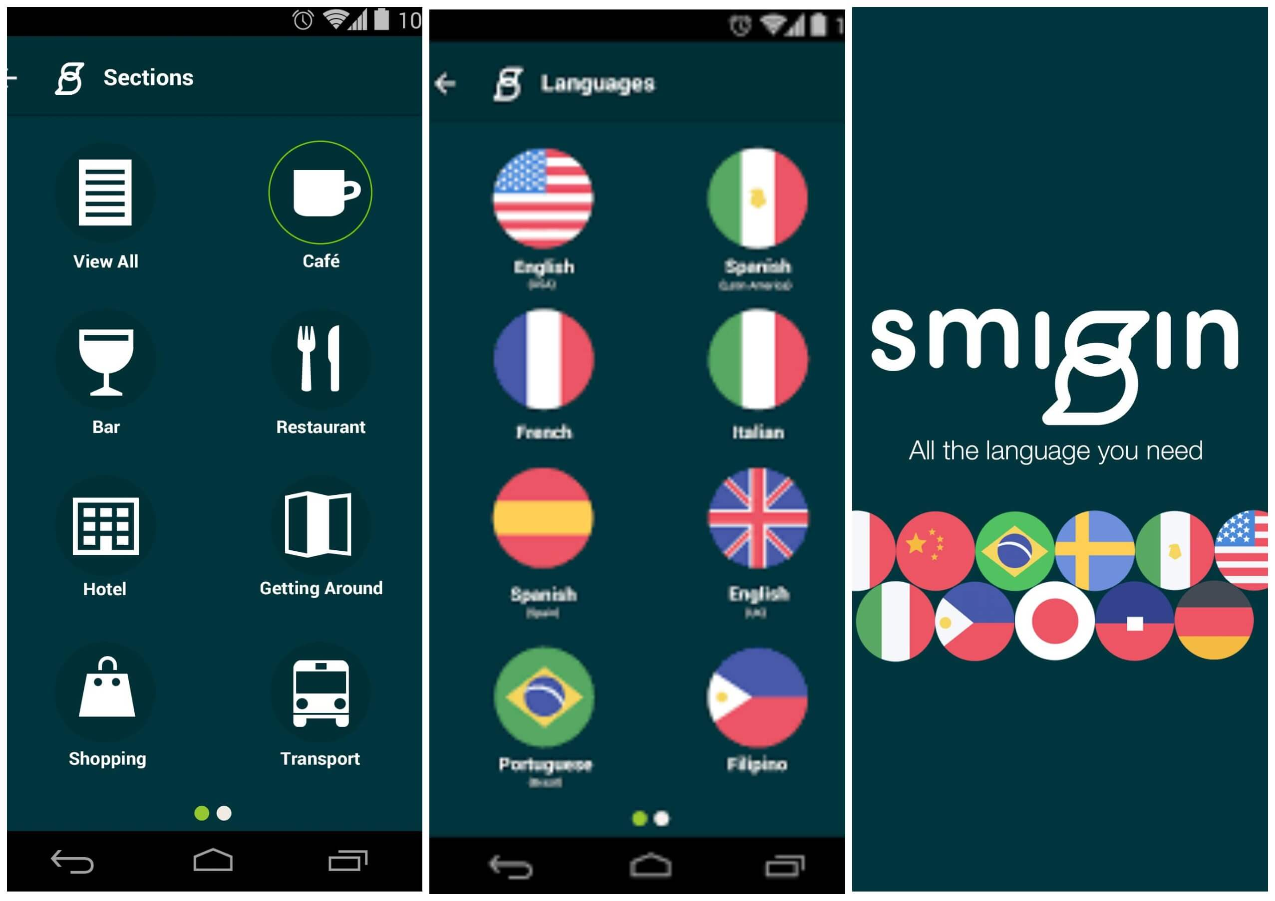 На фото приложение Smigin travel.