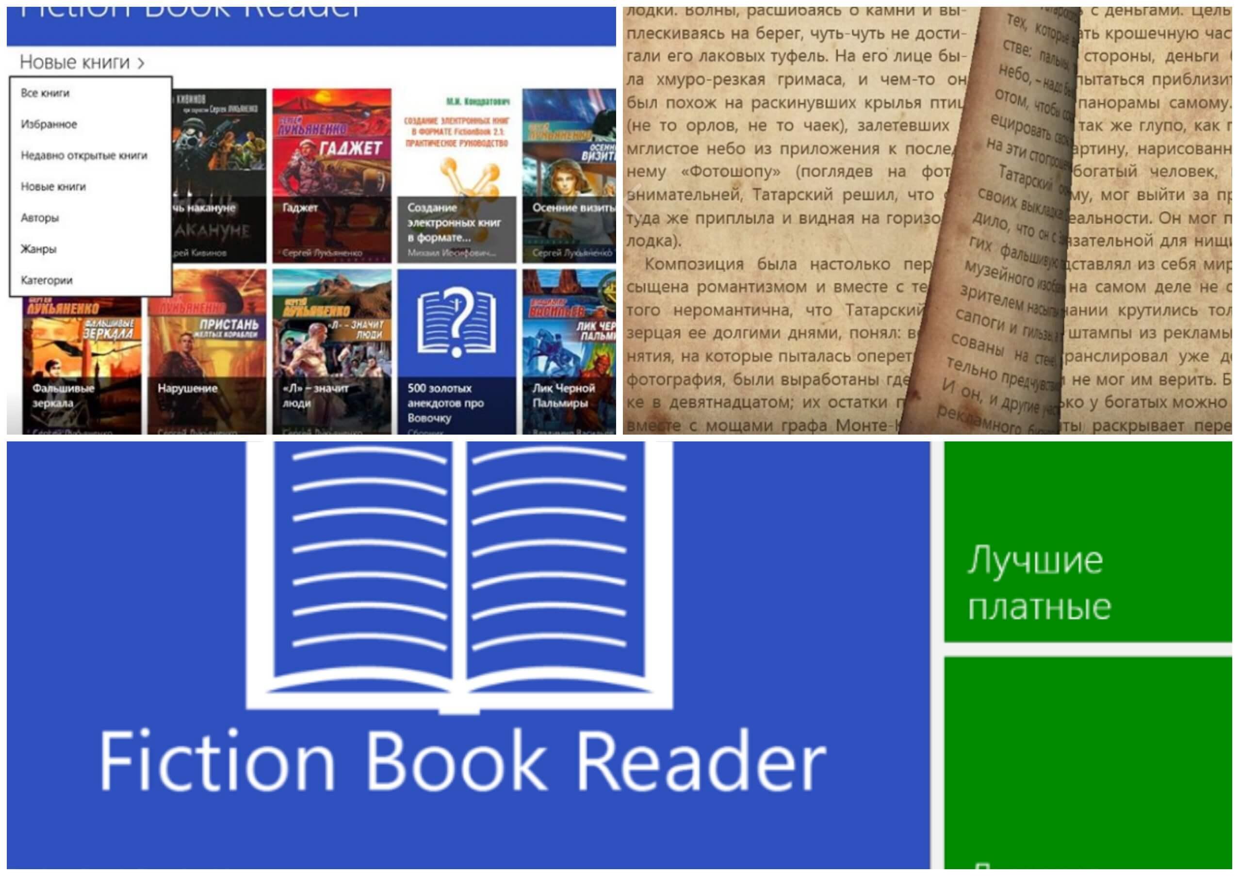 На фото изображено приложение Fiction book reader.