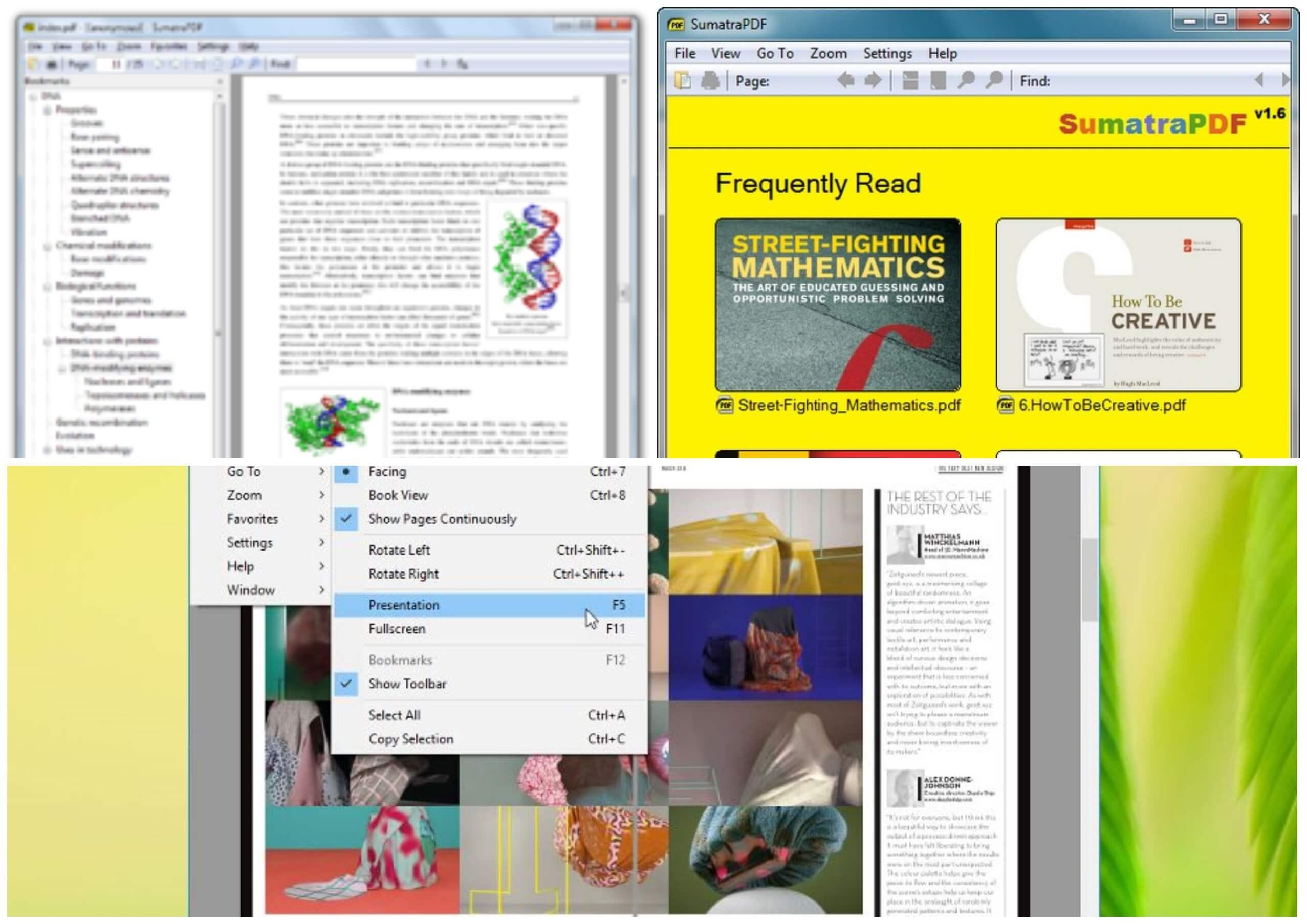 На фото изображено приложение Sumatra pdf.