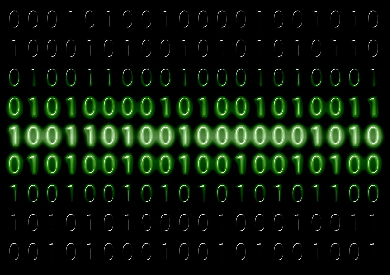 На фото изображен двоичный код.