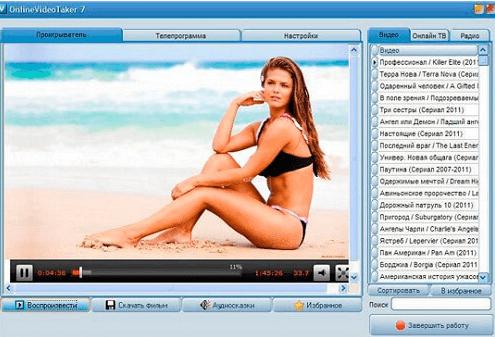 На фото изображена программа Online video taker.