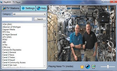 На фото изображена программа Playbox internet tv online.