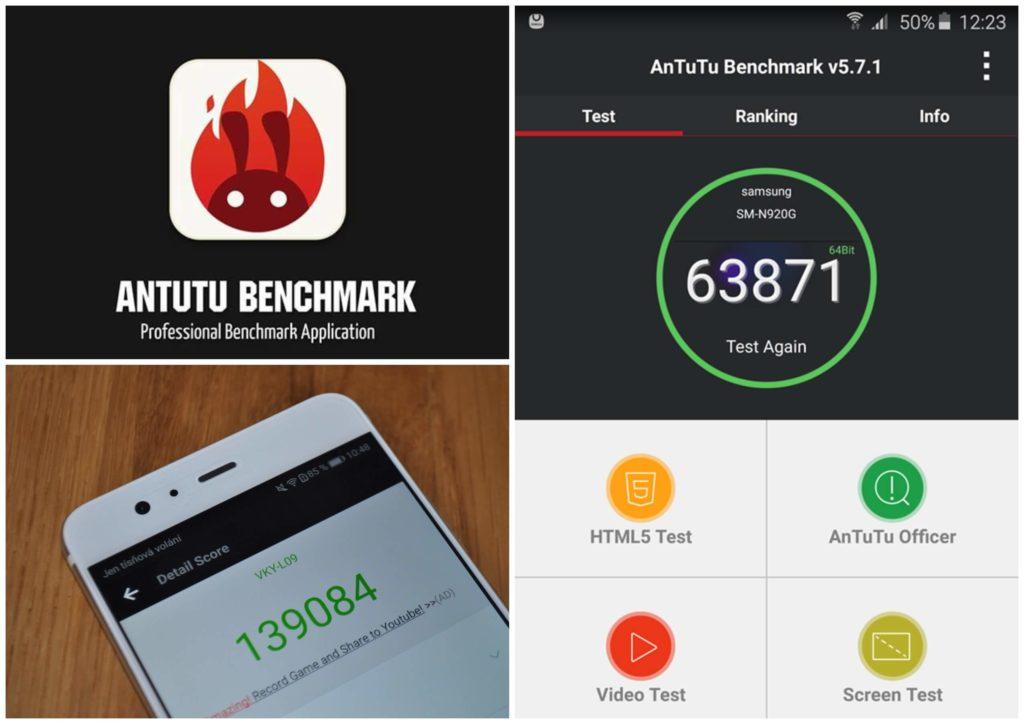 На фото изображен сервис antutu benchmark.