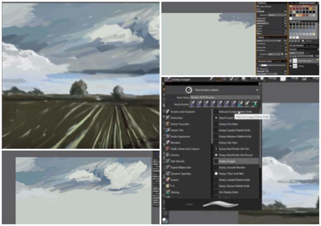 На фото изображена программа Corel Painter.