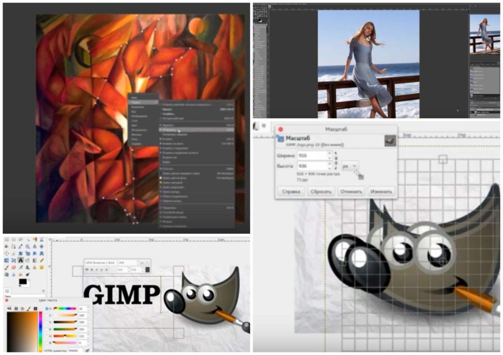 На фото изображена программа для рисования Gimp.