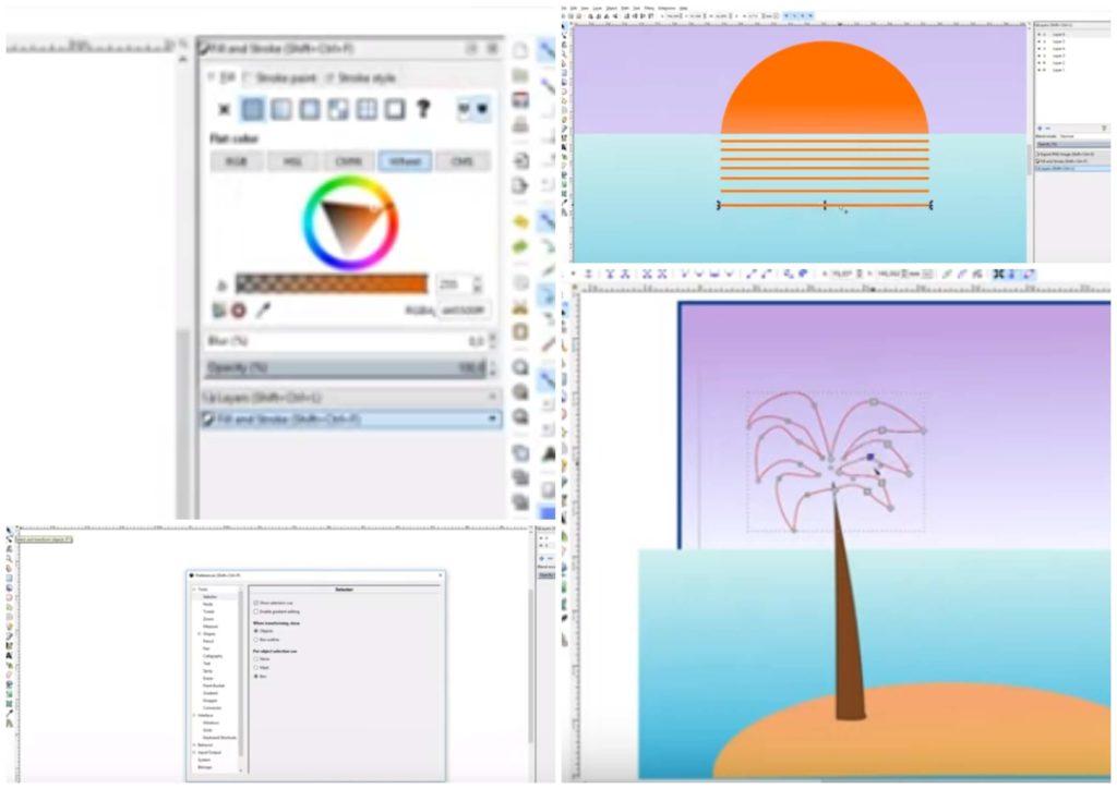 На фото изображена программа для ПК Inkscape.