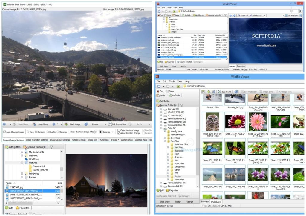 На фото изображена программа для просмотра фото для ПК Wildbit Viewer.