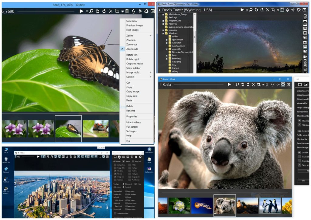 На фото изображена программа Xlideit.