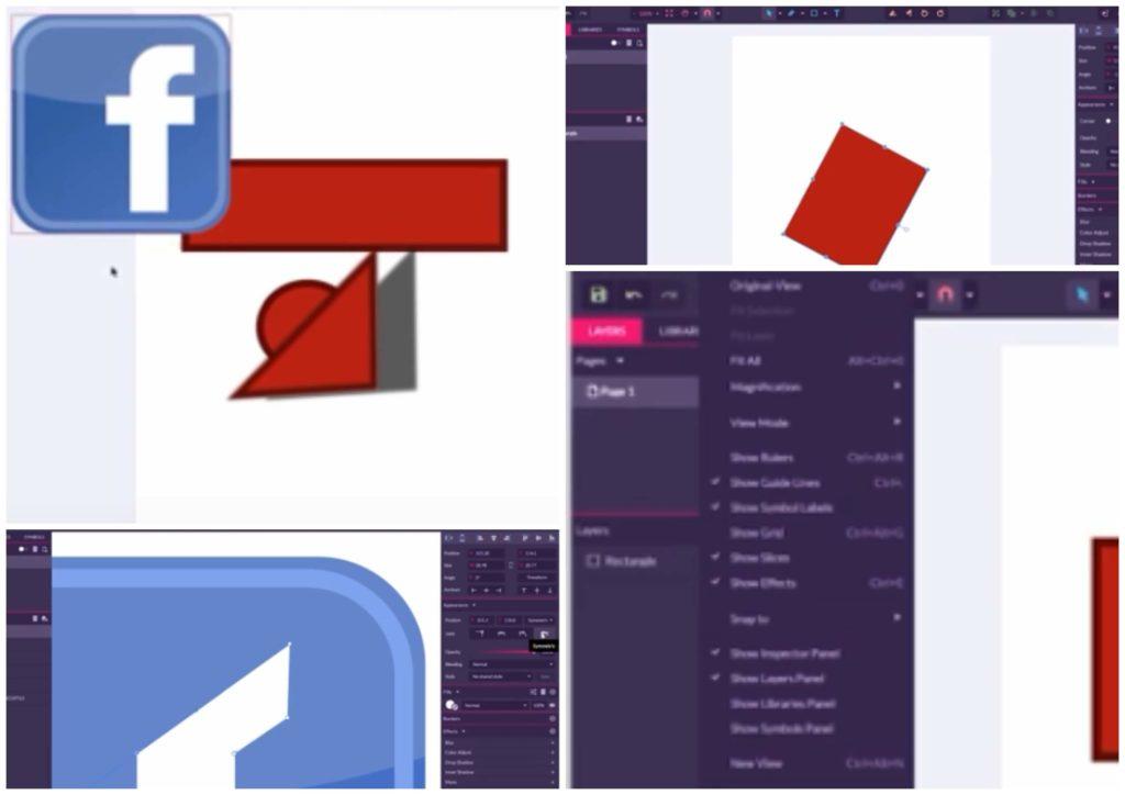 На фото изображено программу для рисования Gravit Designer.
