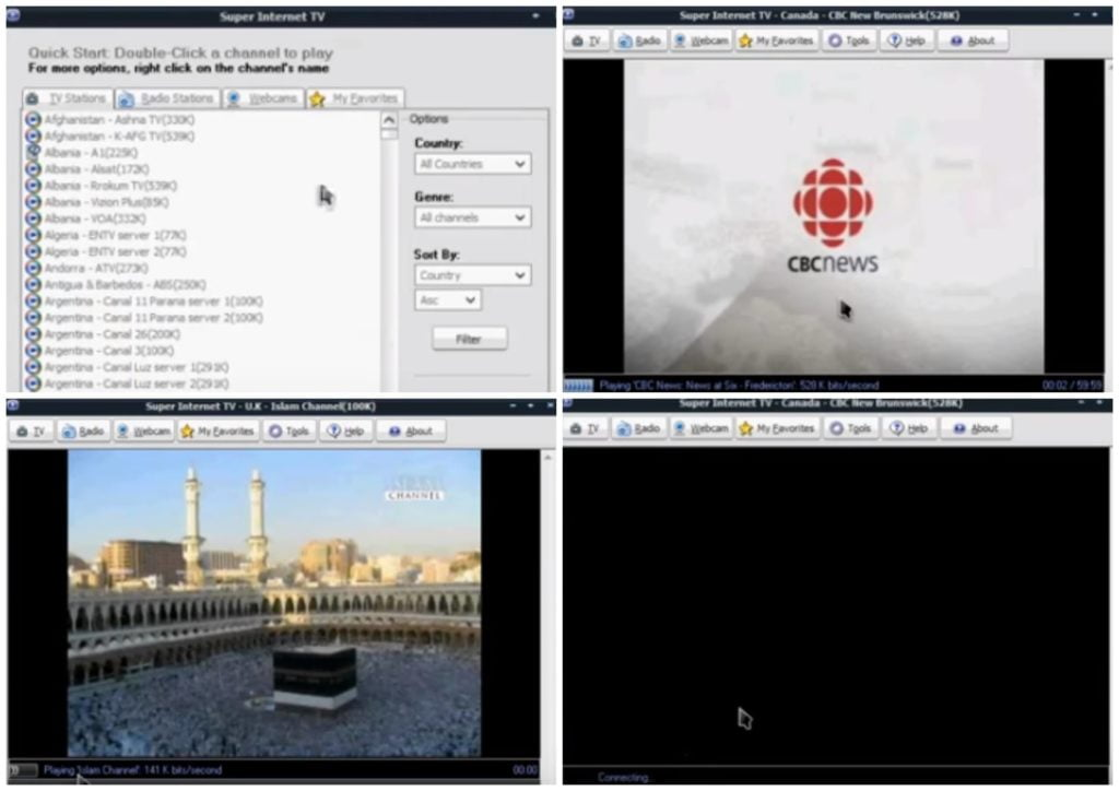 На фото изображена программа Super internet tv.