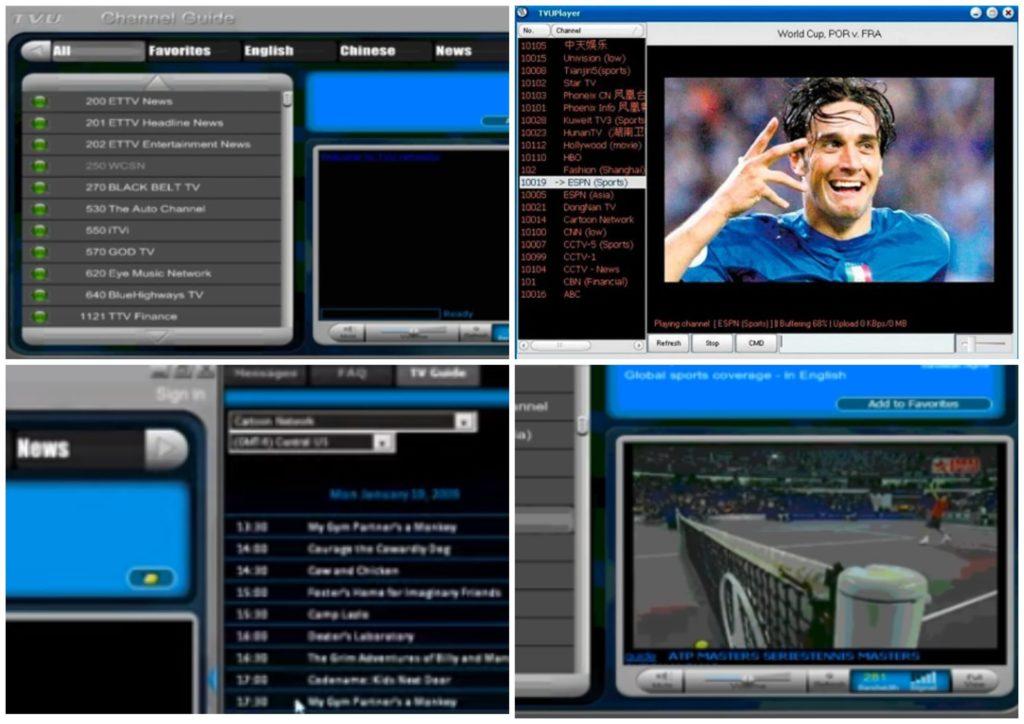 На фото изображена программа TVUplayer.