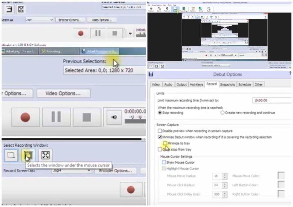 На фото изображена программа для записи видео Debut Video Capture Software.