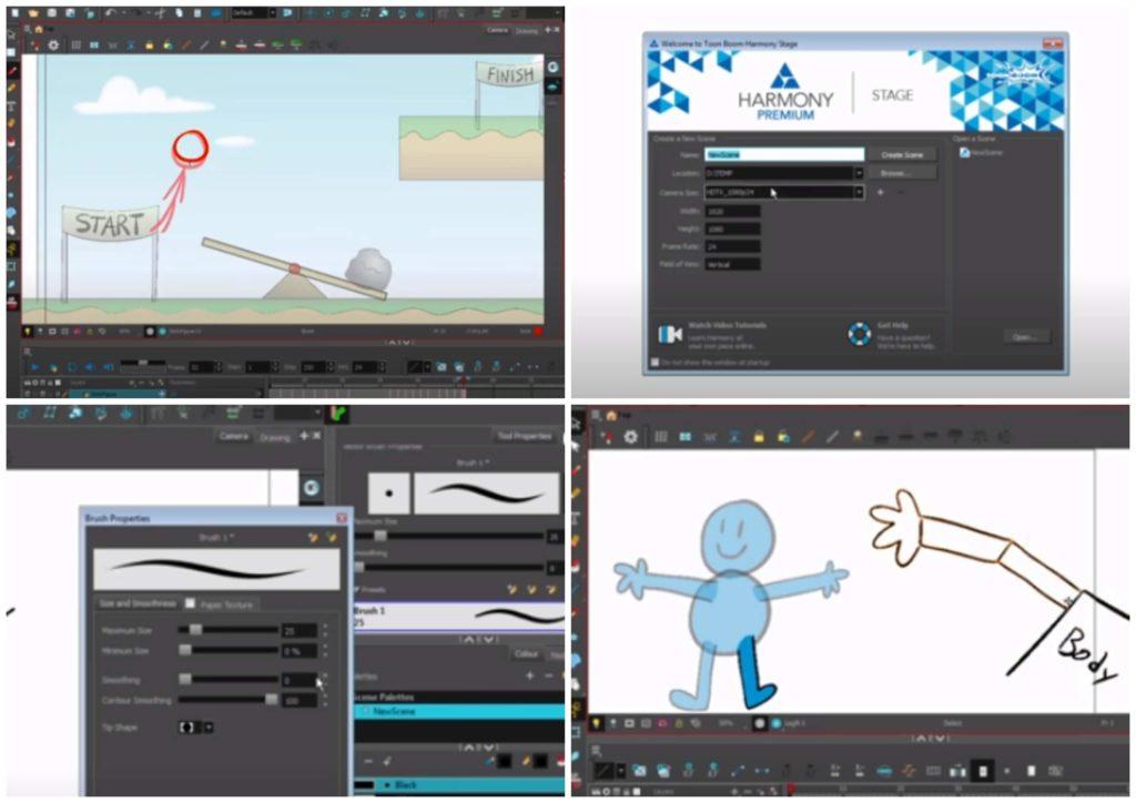 На фото изображена программа для ПК для анимации Toon boom harmony.