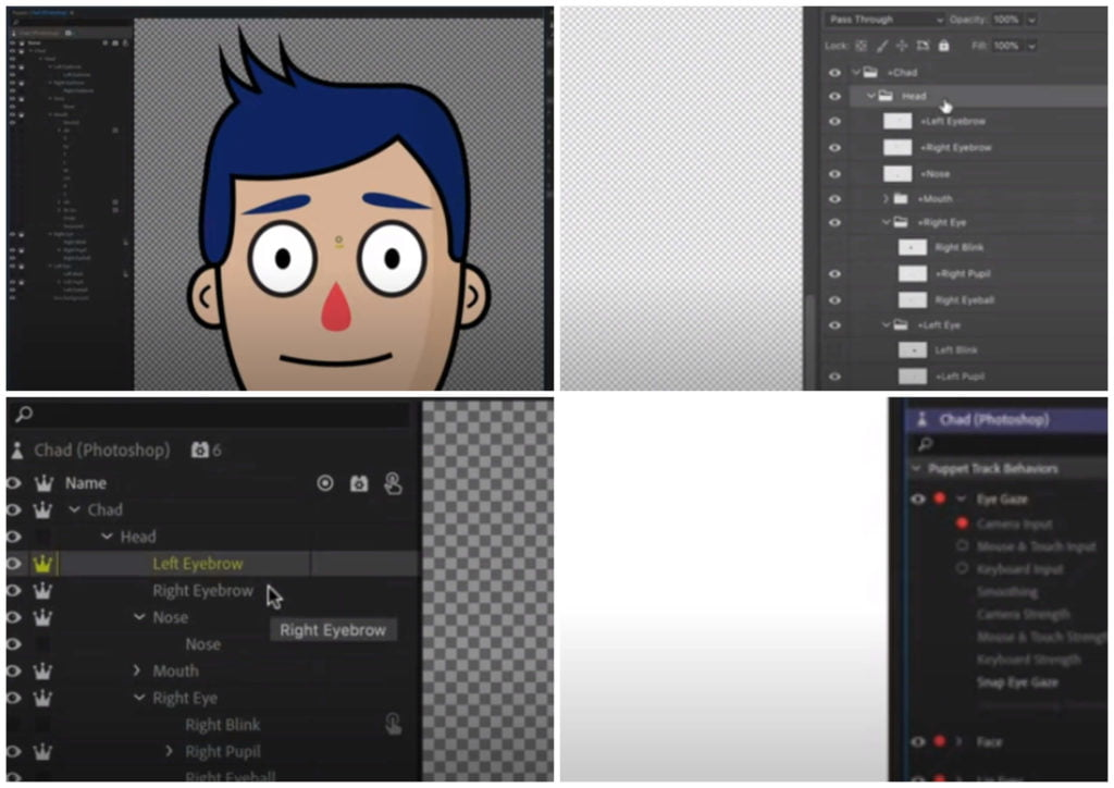 На фото изображена программа для анимаций Adobe Character Animator.