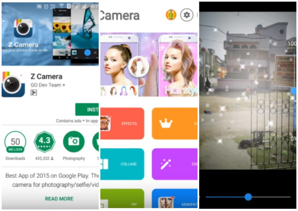 На фото изображено приложение Z Camera.