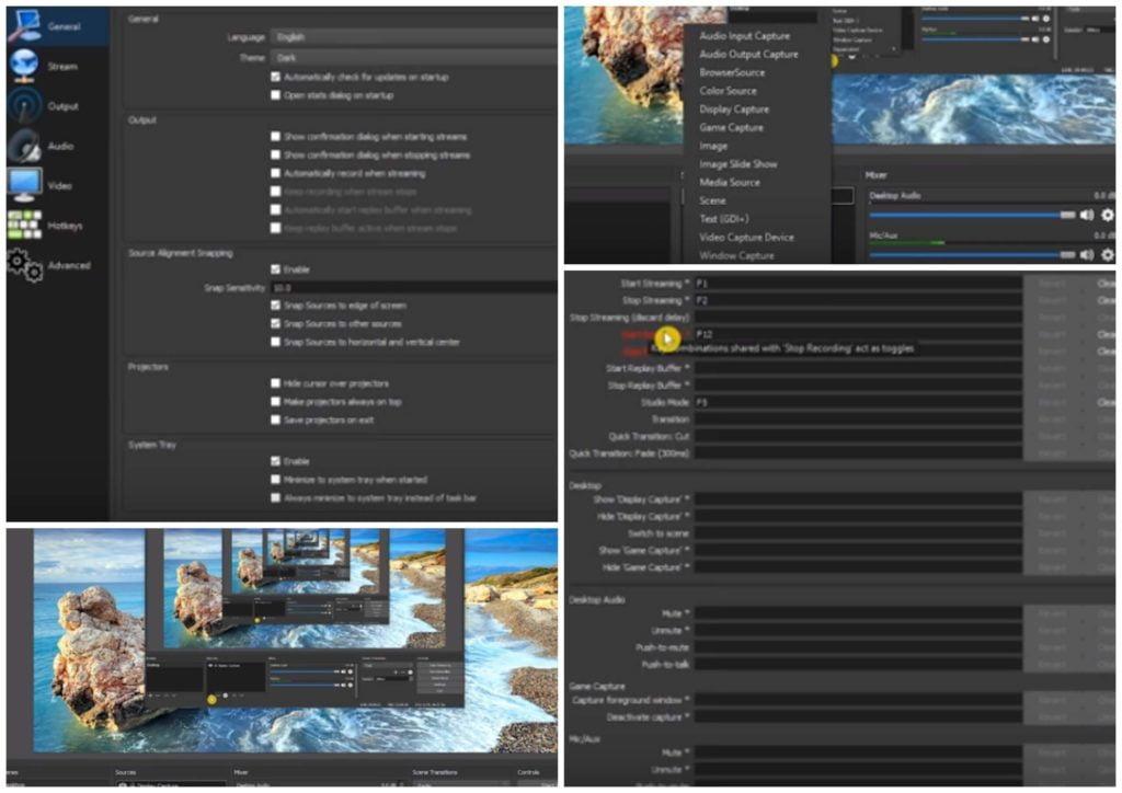 На фото изображена программа Open Broadca Stersoftware: OBS для записи видео.