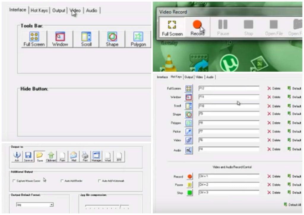 На фото изображена программа для записи видео с монитора Super Screen Capture.
