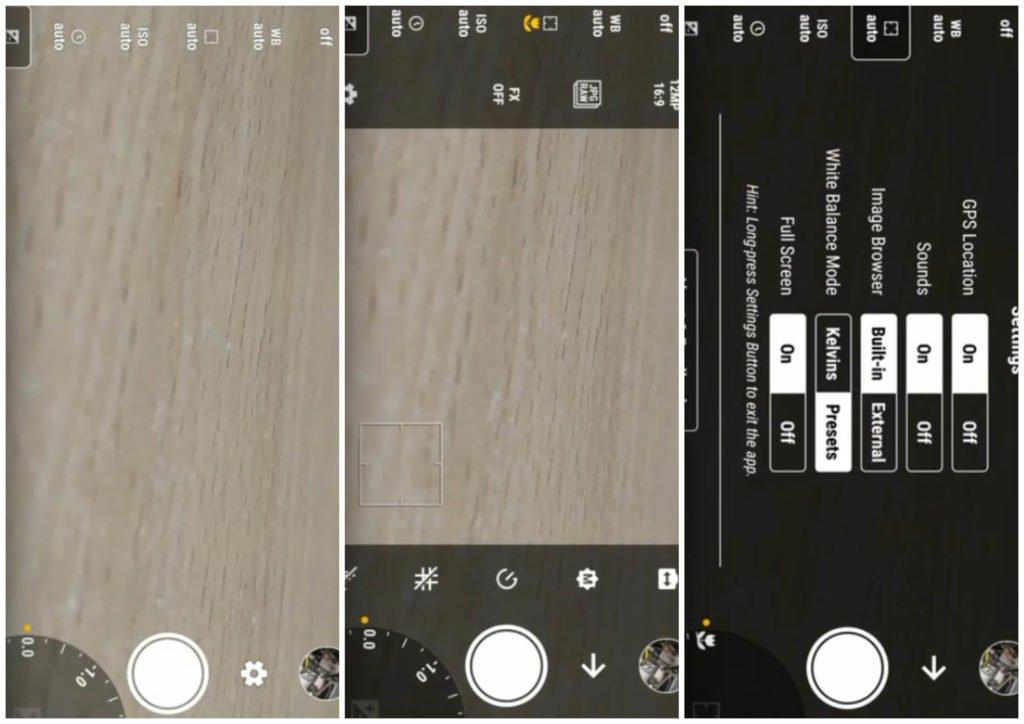 На фото изображено приложение Manual Camera.