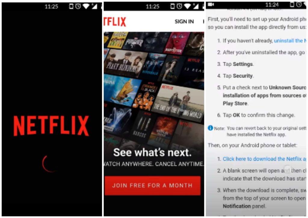 НА фото изображено приложение Netflix.