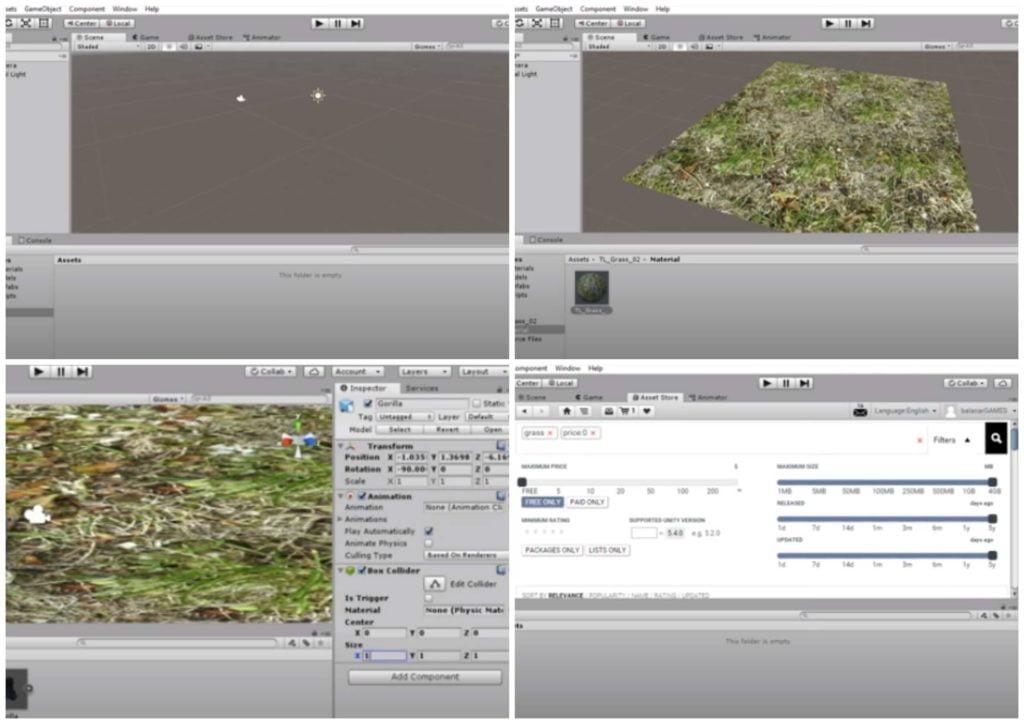 На фото изображена программа Unity 3D.