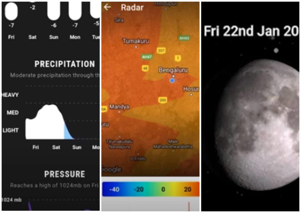 На фото изображено приложение Weather Timeline.
