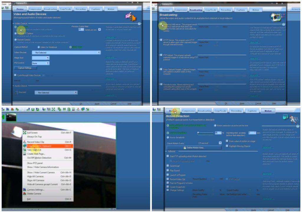 На фото изображена программа Active WebCam.