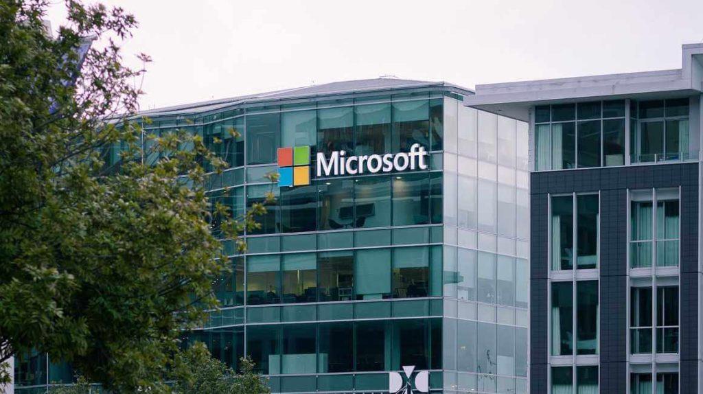 На фото здание Microsoft.
