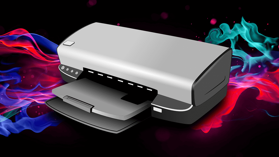 На фото изображен принтер со сканером.