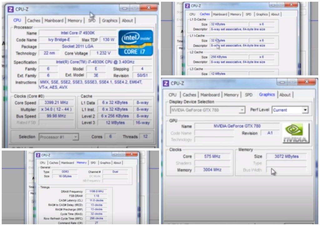 На фото изображена программа CPU-Z.