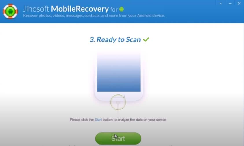 На фото изображена программа Jihosoft android recovery.