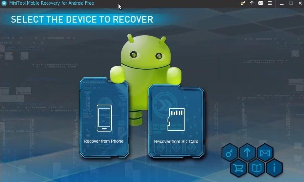 На фото изображена программа Minitool mobile recovery for android.