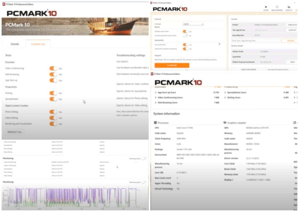 На фото изображена программа PCMark.