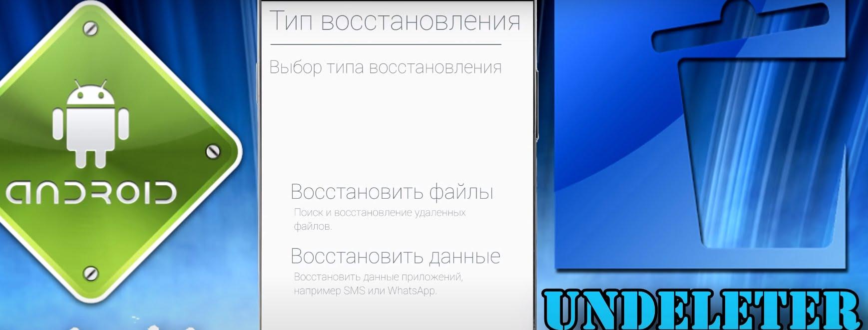 На фото изображена программа Undeleter.