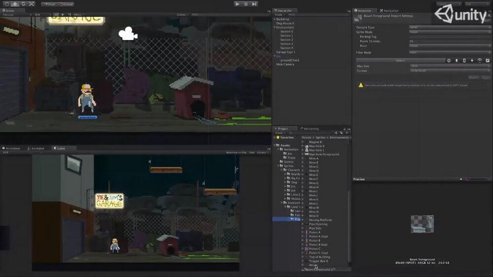 На фото изображена программа Unity 3d