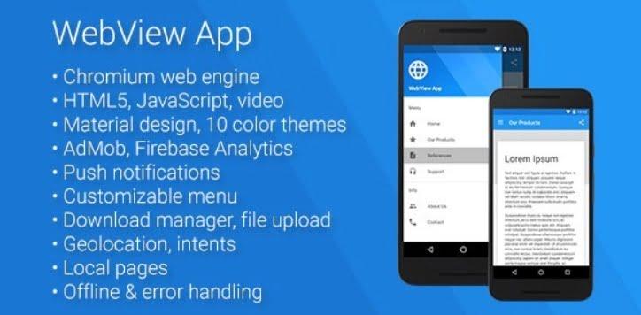 На фото изображено приложение WebView