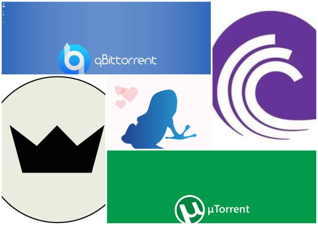 На фото изображены логотипы торрент-трекеров.